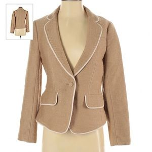 Club Monaco beige lined wool blazer